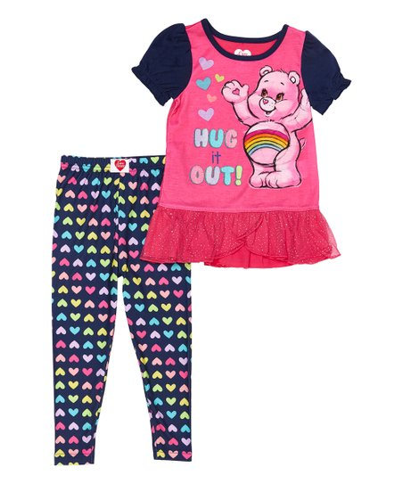 Care Bears Little Girls Hug It Out Pajamas 3T