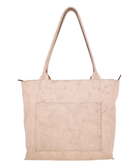 6eead26c18 Latico Leather Crackle White Sonia Leather Tote