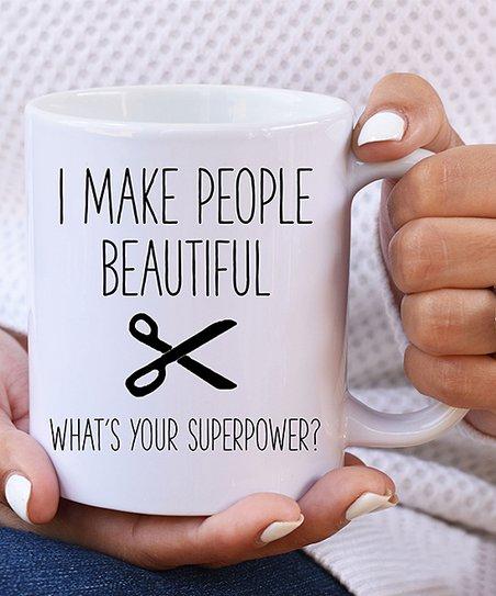 The Love Mugs 'I Make People Beautiful' Ceramic Mug