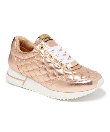 bebe Sport Rose Gold Barkley Sneaker
