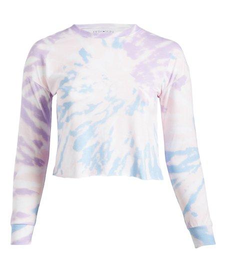 Ethereal Pastel Tie-Dye Cropped Long Sleeve Unisex Tee