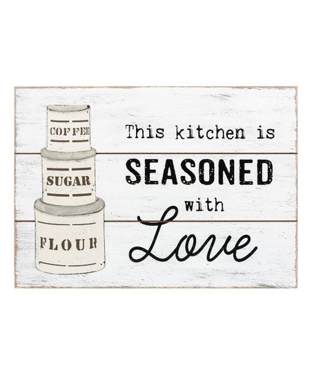 Ganz Weathered White Seasoned With Love Wall Art Zulily