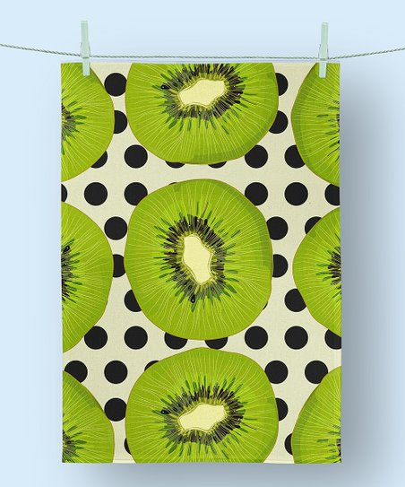 Unkown Kiwi Polka Dot Kitchen Towel Zulily