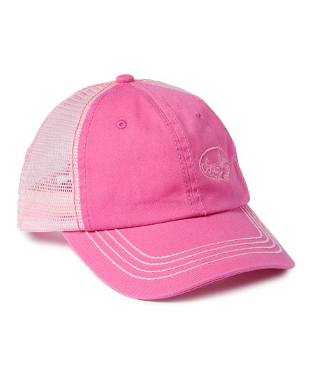 6166be8c418 love this product Pink Floral  Bayou Blues  Trucker Hat
