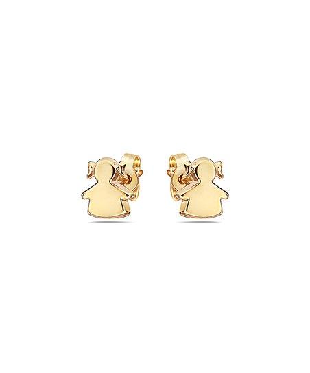 bcc18404e Moricci 14k Gold Girl Stud Earrings   Zulily