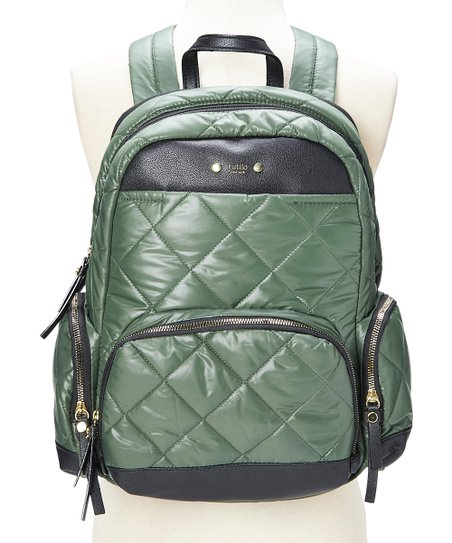 1f06f2a2aecc94 tutilo Forest Green Quilted Zenith Laptop Puffer Backpack | Zulily