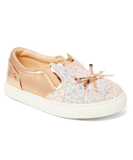 c88bdc0e15b3 Naturino Express Rose Gold Sparkle Gattino Sneaker - Girls | Zulily