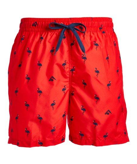 a0a6169859 Kanu Surf Red Flamingo Swim Trunks - Men | Zulily