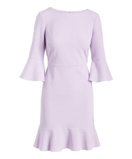 12007ec717 Nine West Daphne Ruffle-Skirt Scuba Crepe Bell-Sleeve Dress - Women ...