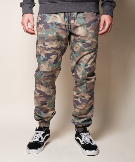 ba13a3973 Brooklyn Cloth Khaki Camouflage Side-Stripe Joggers - Men | Zulily