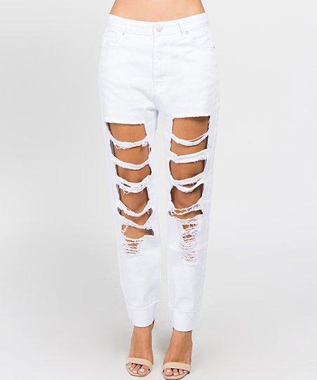 White Jeans Distressed Boyfriend Boyfriend White White Jeans Distressed Distressed wEgqv