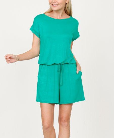 70d3c700785 love this product Green Pocket Drawstring Romper - Women   Plus