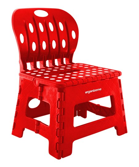 Peachy Organizeme Red Foldable Step Stool Chair Zulily Ocoug Best Dining Table And Chair Ideas Images Ocougorg