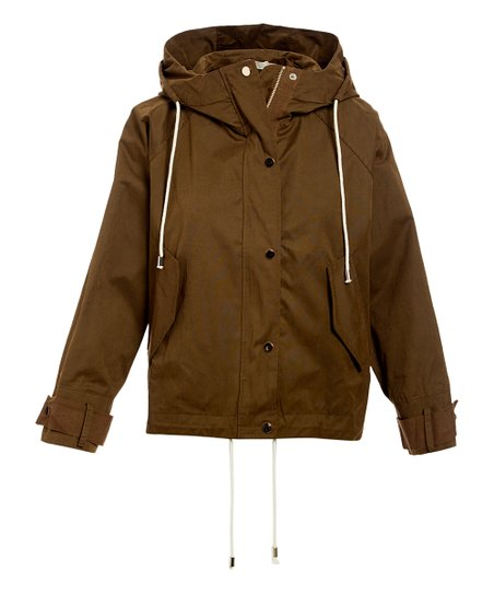 a54463648 Millibon Olive Hooded Button-Front Jacket - Women