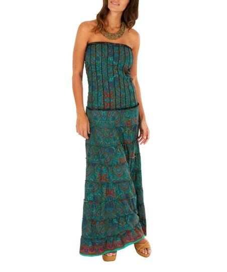 891ee5aa17b65c Aller Simplement Blue Paisley Sleeveless Maxi Dress - Women
