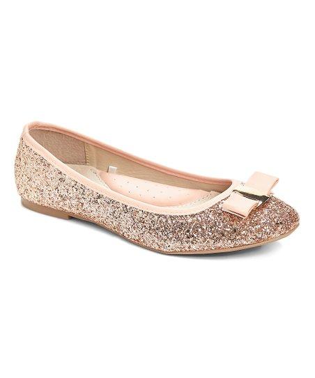 48b9c121cd03 love this product Rose Gold Glitter Ballet Flat - Women