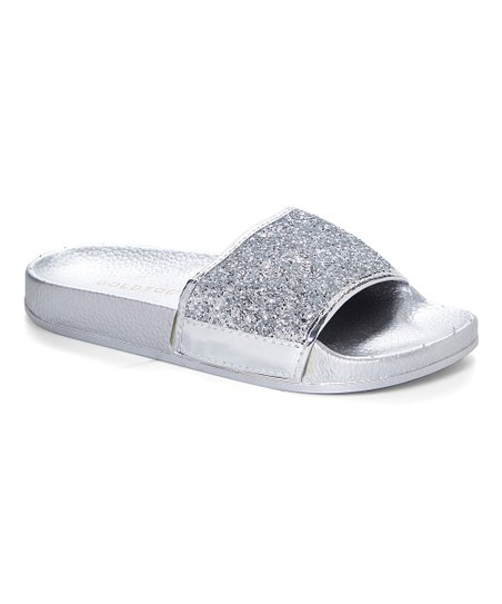 9b923addacf2 love this product Silver Glitter Slide - Women