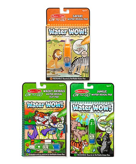 Melissa And Doug Water Wow Wacky Animals Set NEW Toys Activity Book