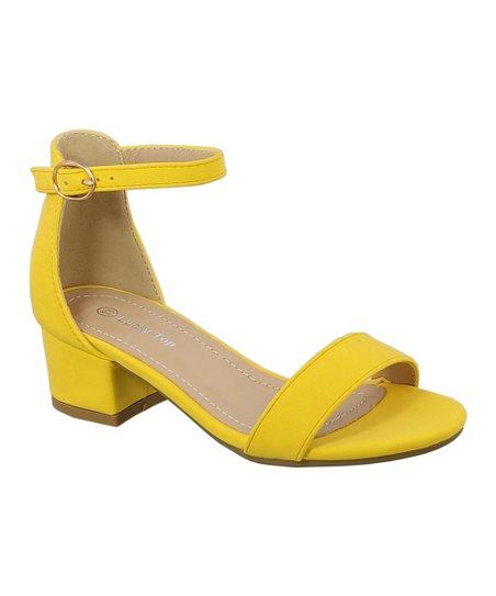 Lucky Top Yellow Darcie Sandal - Girls