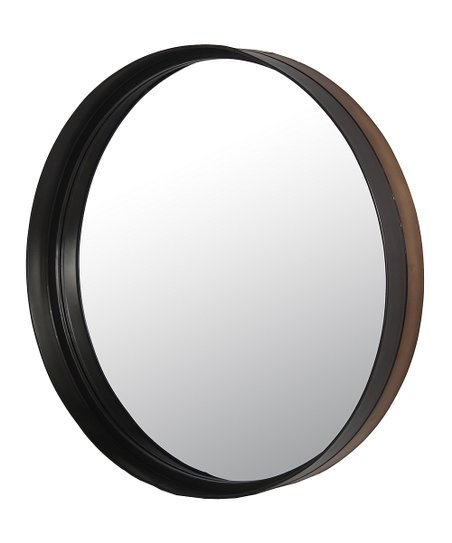 Privilege 34 Black Round Metal Wall Mirror  2f6cfa538e