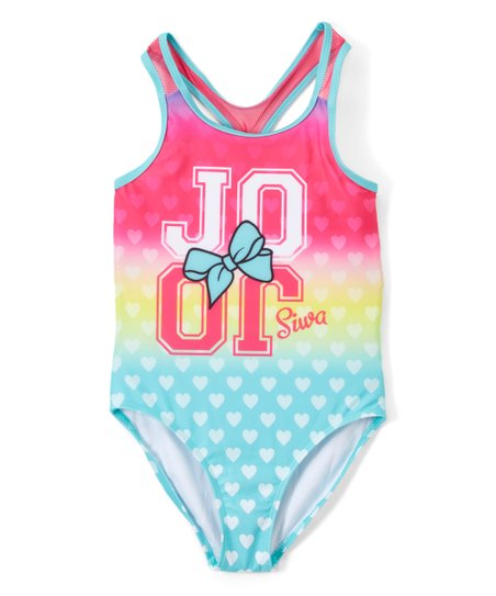f647113fdc318 Dreamwave Apparel Jojo Siwa Heart One-Piece Swimsuit - Girls