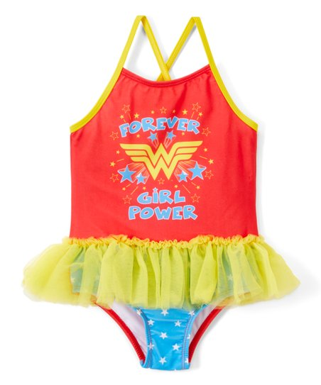 d6e5f3eff6 love this product Wonder Woman 'Forever Girl Power' Skirted One-Piece  Swimsuit - Toddler