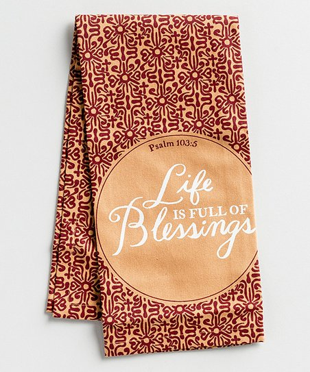 DaySpring 'Life Is Full of Blessings' Tea Towel