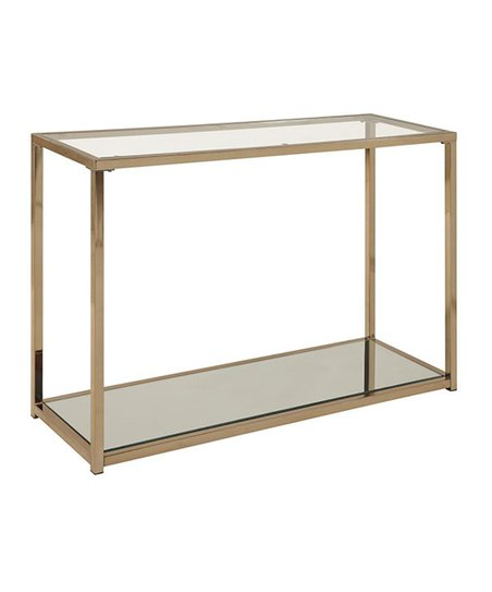 Love This Product Chocolate Goldtone U0026 Clear Mirrored ConsoleTable