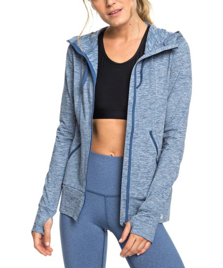 cba3c6780 love this product Blue Mesh-Accent Zip-Up Hoodie - Women & Juniors