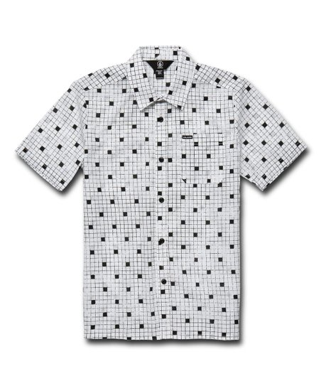 b7bbbaa81 love this product White Crossed Up Short-Sleeve Button-Up - Boys