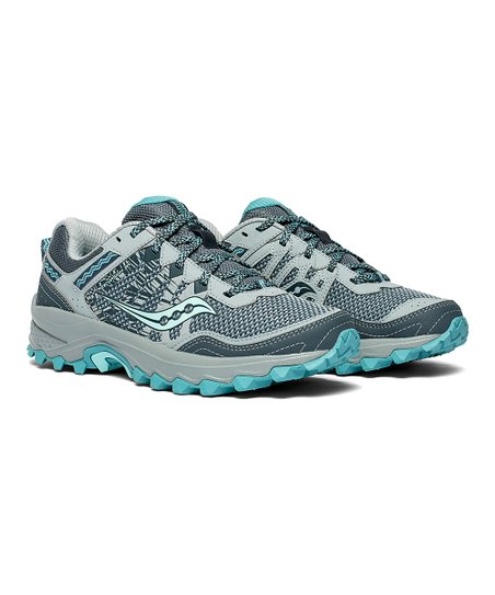 0664339996c4 Saucony Gray   Teal Grid Excursion TR12 Running Shoe - Women