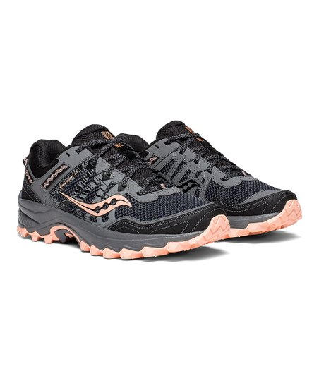 3451736aa87c Saucony Gray   Peach Excursion TR12 Running Shoe - Women