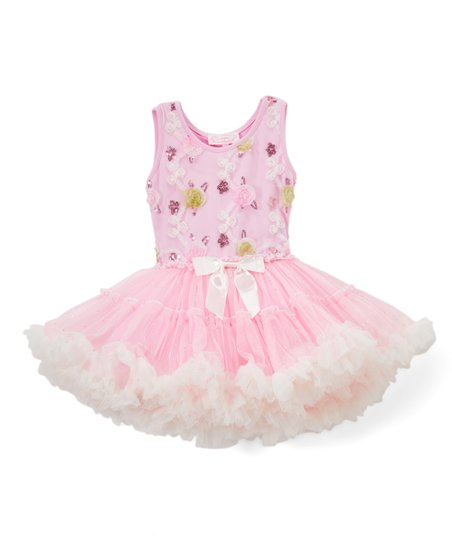 7fd007d1e love this product Pink Floral Embroidered Sleeveless Tutu Dress - Toddler