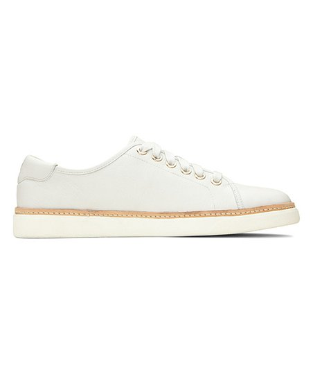 Vionic White Leah Leather Sneaker