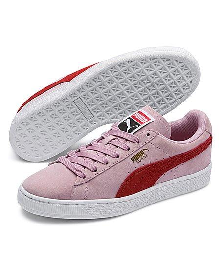 PUMA Pale Pink & Hibiscus Classic Suede Sneaker Women   Zulily