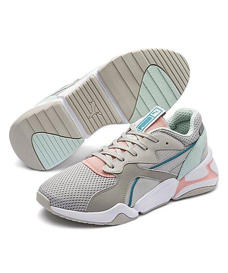 PUMA Nova Mesh Women's Shoes Gray VioletPeach Bud