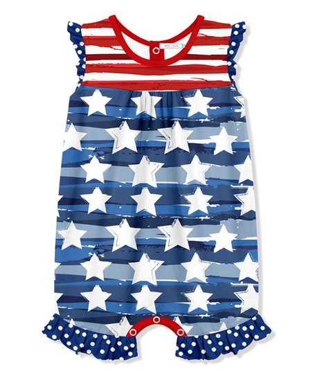 158ddc6055ad love this product Red   Navy Stars   Stripes Romper - Infant
