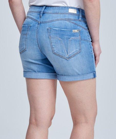 cc3d9042e46 Seven7 Astoria Wash Roll-Cuff Booty Shaper Denim Shorts - Women