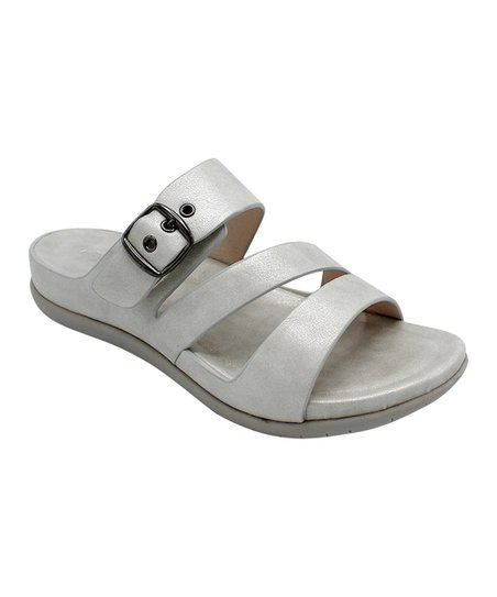 c25f7e4dc love this product White Tri-Strap Buckle Crissy Sandal - Women
