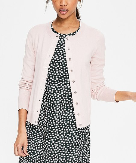 Boden Light Pink Amelia Crewneck Cardigan Women Zulily
