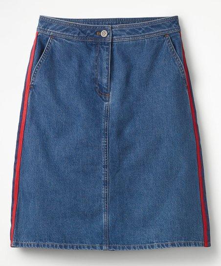 Boden Mid Vintage Penny Denim Skirt Women Zulily