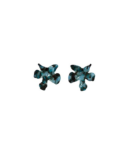 0d6acded6 love this product Night Blue 14k Gold-Plated Lily Button Stud Earrings