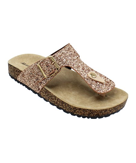 2c9be1abff55 love this product Rose Gold Glitter Kylie Y-Strap Sandal - Women