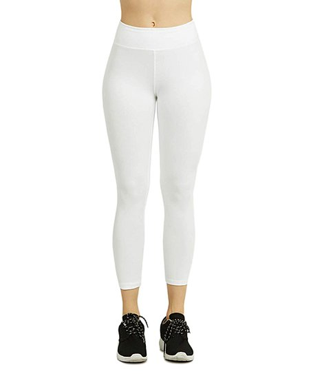725e22ef0ff SBS Fashion White Capri Leggings - Women & Plus | Zulily
