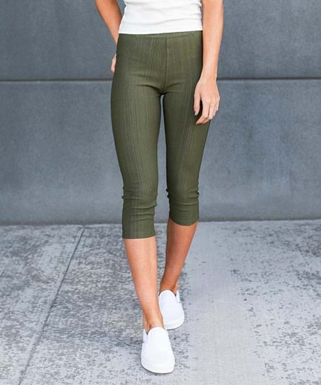 special for shoe beautiful in colour reputation first Contagious Olive Capri Jeggings - Women
