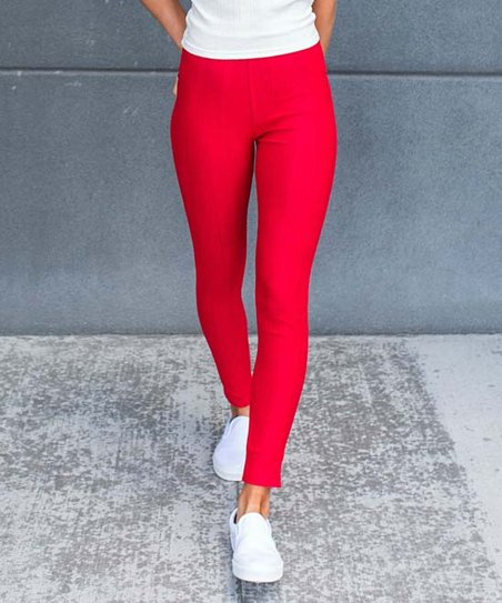 26010ba0b0a11 Contagious Red Jeggings - Women   Zulily