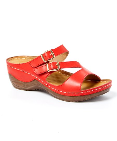 4ed3fe5b7242 love this product Red Tiki Dual-Buckle Sandal - Women