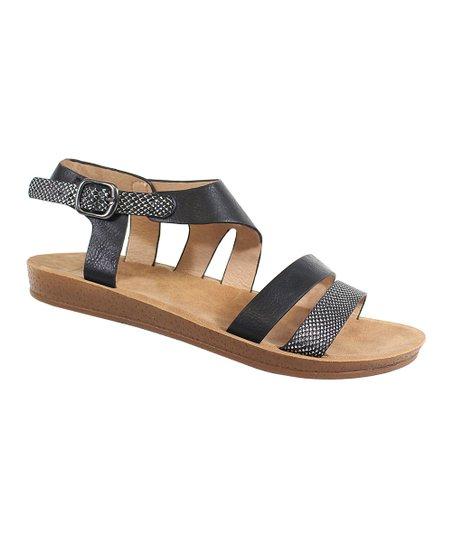 9dbaf38861e3e love this product Black Two-Strap Sandal - Women
