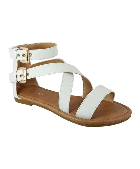 f70ba18479b6f TOP MODA White Diego Gladiator Sandal - Women