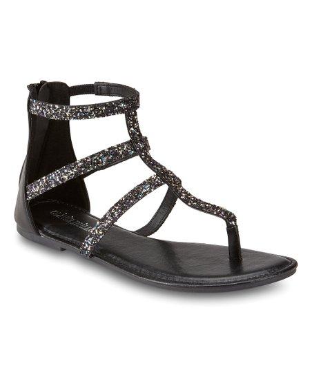 96d78bb6a13 Olivia Miller Black Sparkle GF Gladiator Sandal - Women